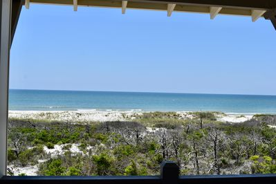 Your view from covered deck