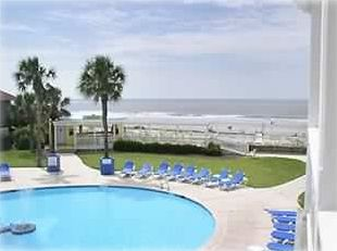 Ocean side adult pool is a step away and next door to the Olympic family pool