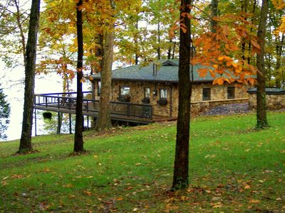 Photo for KY Lake Unique Stone Cottage  -  Private Dock / Area's Finest Boat Rentals *