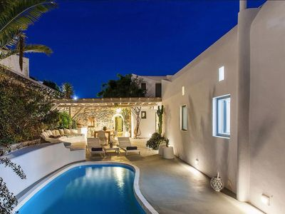 Photo for Great location over Mykonos Town, 294sqm 5 Bedrooms amazing sunset & sea views