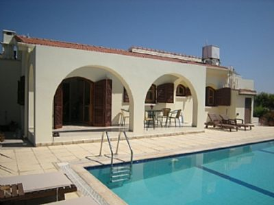 Photo for Bungalow With Pool, Mountain And Sea Views, AC, secure WIFI, Not Overlooked.