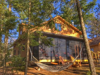 Photo for Charming lakeside cabin open year round!