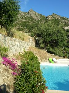 Photo for Northern Corsica: Panoramic views, sea, mountains, pool, tranquility