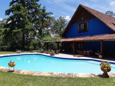 Photo for Spectacular house in the Sierra-5 bedrooms-pool-sauna-barbecue