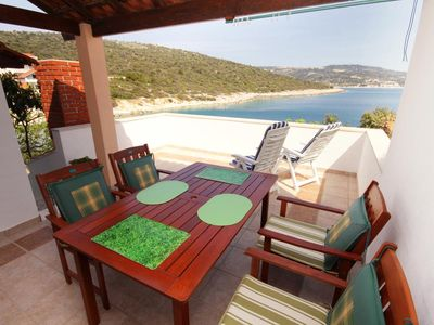 Photo for Two bedroom apartment near beach Cove Oštrička luka, Rogoznica (A-6091-a)