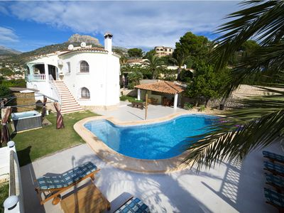 Photo for Superb villa for 10p, seaview, private pool,airco, jacuzzi, pooltable