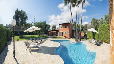 Photo for Clarissa Villa - Spacious Villa with Private Pool, Gym, Large Garden and just 700 m from Es Torrent Beach! - Free WiFi