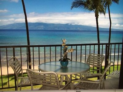 Photo for Gorgeous Oceanfront Year-Round Sunset Views from Lanai and Master Bedroom!