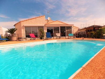 Photo for BIG VILLA CLIMATISEE WITHOUT OPPOSITE SECURE SWIMMING POOL + JACUZZI