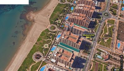 Photo for 1st sea line apartment in Marina d'Or with lawn and beach [Family]