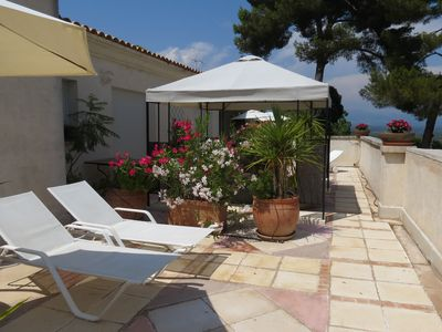 Photo for Villa 80m2 terrace100m2 between Cannes Antibes swimming pool garden sea view mountains