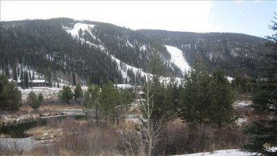 View of ski runs from back deck