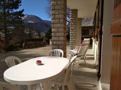 Photo for Furnished apartment ground floor of villa Guillestre