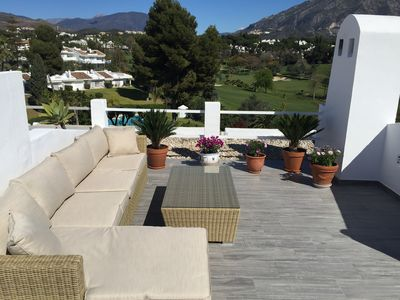 Photo for Terraced apartment with roof terrace right in the golf valley at Aloha Gardens