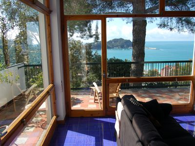 Photo for beautiful apt (180m2) with wonderful views across the bay from Sestri Levante