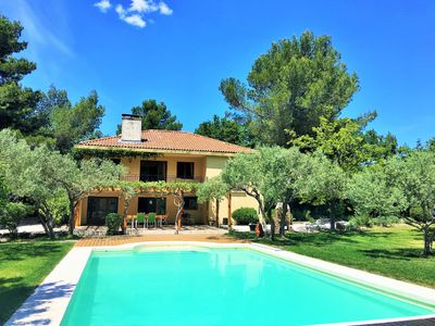 Photo for House in Provence with swimming pool, olive grove and hill
