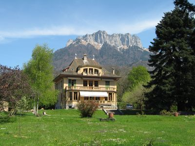 Photo for Lovely and spacious villa located 150 m from the Annecy Lake, enclosed tree park
