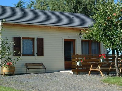 Photo for Chalet NEW, green site, nature, calm, in AUVERGNE, seen MASSIVE of SANCY