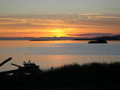 Photo for Beachfront with Spectacular Sunsets.  Lopez Island
