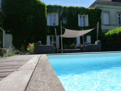 Photo for BEAUTIFUL HOUSE WITH HEATED SWIMMING POOL CLOSE TO BORDEAUX