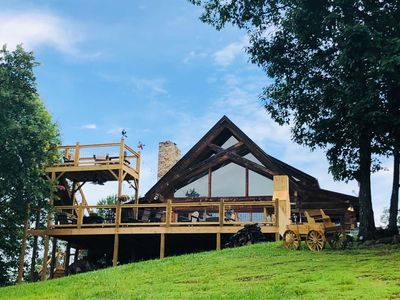 Kid Treehouse U0026 Outdoor Kitchen/Fireplace/Observation Deck On 4 Acre Mtn.  Top   Pigeon Forge