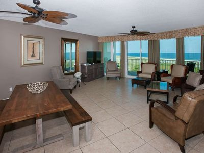Photo for 3BR/3BA Gulf-View Condo w/Private Balcony, Sleeps 8, Jetted Tub, Wet Bar, Pool, Dock-Caribe B-1111