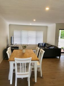 Yamba Clarence Cottage - Spacious open plan living and dining area