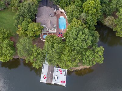 Photo for Resort like - Lake home -  huge water view, swimming pool, and xlarge boathouse.