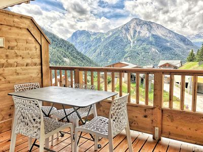 Photo for Charming flat **** -  South exposition - Nature park Champagny-  Family village