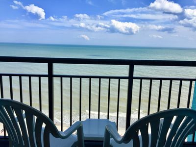 Photo for Relax On Private Oceanfront Balcony - Landmark Resort