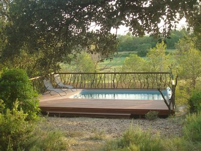 Photo for 19 km of Montpellier, quiet house in beautiful wooded property