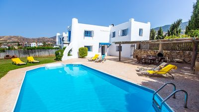 Photo for Pachiammos Villa - Beautifully Styled with Private Pool, Spectacular Sea Views located in the centre of Pomos, 350m to a Beach! - Free WiFi