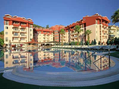 Photo for Club Marmaris Aid Luxury Apartments 500 Meters Away From the Sea. Shared pool facilities, suitable for families and groups, daily, weekly, monthly rental apartments.