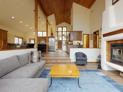 Photo for Dog-friendly luxury home w/ indoor hot tub & wet sauna - golf course view