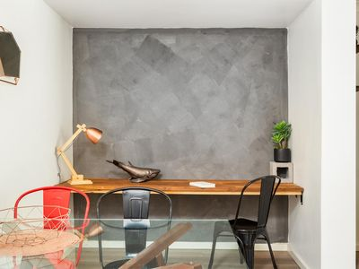 Photo for Suburban Two-bed Apartment with Parking and Patio