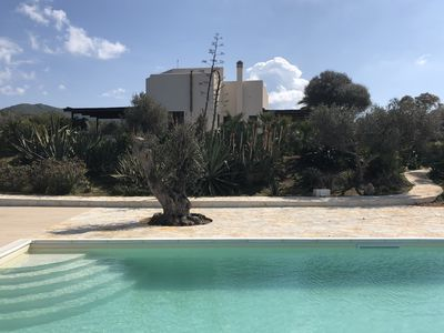 Photo for Luxurious seafront Villa with swimming pool and large mediterranean garden