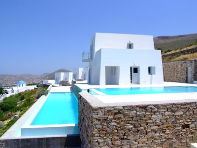 Photo for Award Winning Traditional Cycladic Luxury Villa with breathtaking sea view!