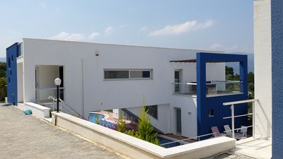 Photo for Modern luxury villa with sea views and several terraces and private swimming pool