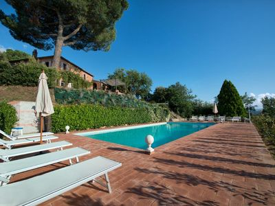 Photo for Independent villa with 5 bedrooms with 5 ensuite bathrooms. Private garden, pool & Jacuzzi