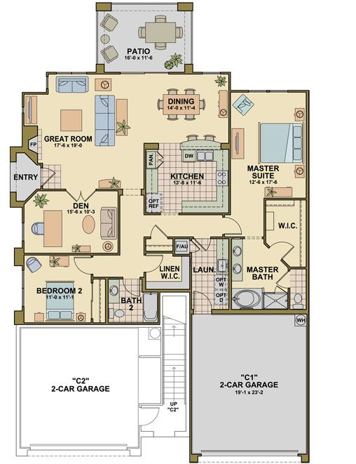 Exceptional 2 Bed/2 Bath North Scottsdale Grayhawk Condo. Workout  Facilities. Floor Plan *1881 Square Feet