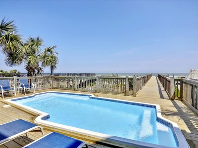 Oceanfront Home w/Private Pool, 2 Living Areas & Amazing Views Of The Beach
