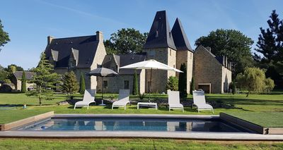 Photo for Manoir de Pléac in full 2 cottages and outdoor heated pool and park of 3 Ha