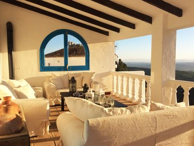 Photo for Beautiful Andalusian house in Casares, with a terrace with spectacular views