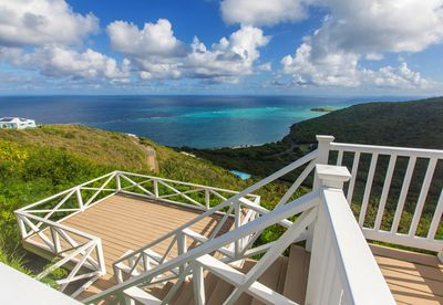 Caribbean views from 3 private decks.