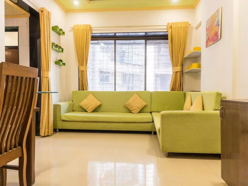 1br apt w modular kitchen thakurcomplex 1 br vacation for Living room kandivali east