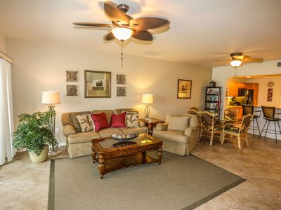 Photo for Welcome to Bella Lago 343. This beautiful third floor, 2 bedrooms plus den and two bathrooms condo comfortably sleeps four people.