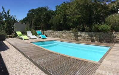 Photo for Villa, swimming pool between Sea and Garrigue 10 minutes from the beaches