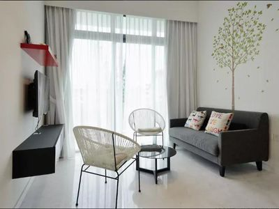 Photo for Stylish 2BR Condo 8 mins to MRT