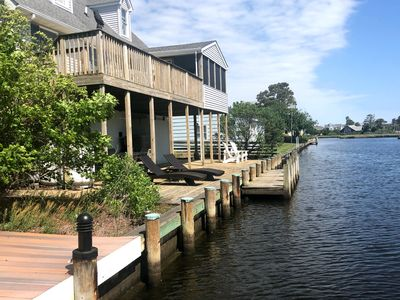 Photo for Canal Front Home on Wetlands facing Ocean - 10 Min Walk to Ocean - Kayaks too!!!