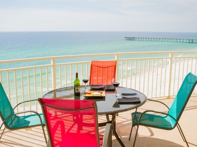 Photo for Bright 2BR/2B Oceanfront at AQUA with Free Beach Service!